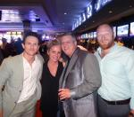 """""""Kingdom"""" actors Jonathan Tucker and Mac Brandt with the D Owner Derek Stevens and his wife Nicole Parthum at the World Famous LONGBAR"""