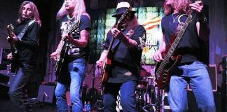 Lynyrd Skynyrd on stage during at the benefit concert at Lynyrd Skynyrd BBQ & Beer at Excalibur