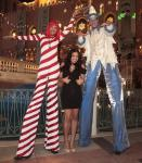 Jordin Sparks poses with silted candy can and wizards