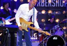 Actor and Musician Dennis Quaid Performs With His Group The Sharks at The Barbershop Cuts & Cocktails in The Cosmopolitan of Las Vegas.