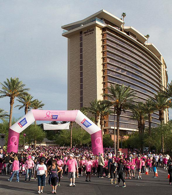 American Cancer Society Making Strides Against Breast Cancer Walk Set for October 28, 2018; Red Rock Casino Resort and Spa Hosts Annual Event