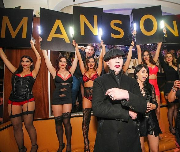 Marilyn Manson Hosts 'Black Heart Ball' at Hyde Bellagio in Las Vegas