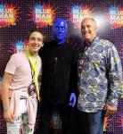 Actor Michael Campion at Blue Man Group in Las Vegas at Luxor Hotel and Casino