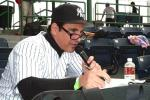 New York-New York's Vinny Announcing the Game