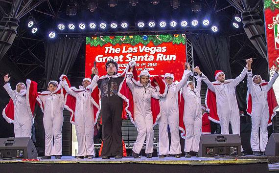 """Nearly 10,000 Individuals Joined Lance Burton: Master Magician, Mayor Carolyn Goodman, Human Nature, and Chippendales to Celebrate the 14th Annual """"Las Vegas Great Santa Run"""""""