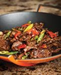 The peppered steak at Bacchanal Buffet at Caesars Palace will be one of many dishes prepared in a traditional Chinese wok.