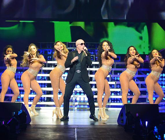 """Jennifer Lopez performs with Pitbull at """"Time of Our Lives Las Vegas"""" at The AXIS at Planet Hollywood Resort & Casino"""