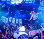 Redfoo rides through the crowd at Marquee Fifth Anniversary