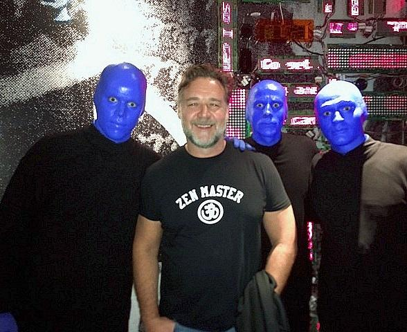 Actor Russell Crowe attends Blue Man Group inside Luxor Hotel and Casino in Las Vegas