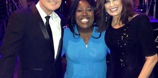 """Sheryl Underwood, one of the hosts on the television show """"The Talk,"""" attended Donny & Marie's show at Flamingo Las Vegas last night. After the show, Sheryl went backstage to catch up with Donny & Marie, who are both frequent guests and special co-hosts on """"The Talk."""""""