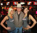 PBR 2000 and 2003 World Champion Chris Shivers with PBR Girls Trina Naughton and Jena Carpin