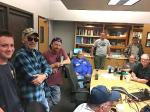 Amateur radio operators gathered at the NWS office on Dean Martin Drive in Las Vegas