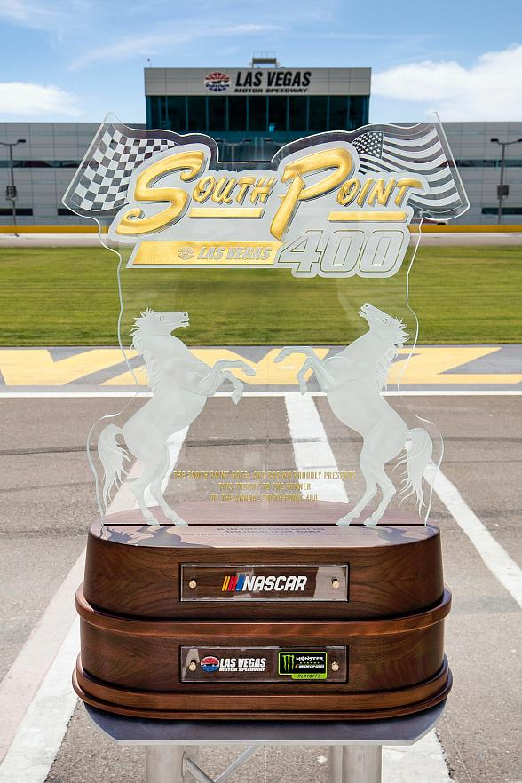 South Point Hotel, Casino and Spa Unveils Official South Point 400 Trophy for September Monster Energy NASCAR Cup Series Race