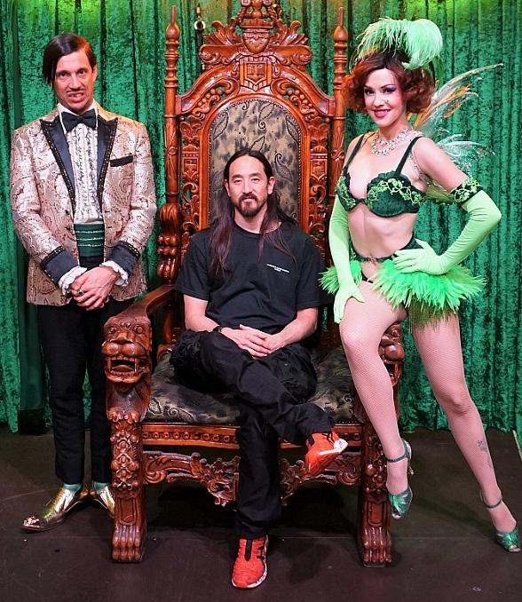 Steve Aoki and Farrah Moan Attend ABSINTHE at Caesars Palace in Las Vegas