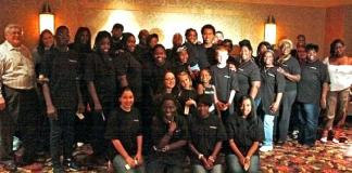 The Lion King's Derrick Williams with Broadway in the Hood