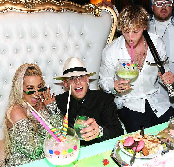 Jake Paul and Tana Mongeau Celebrate Wedding Reception at Sugar Factory American Brasserie Las Vegas at Fashion Show