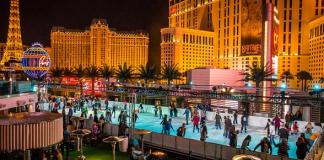 There's Snow on The Strip at The Ice Rink at The Cosmopolitan of Las Vegas