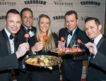 The Venetian Headliners Human Nature with Rock of Ages Tiffany Engen enjoying bites from Yardbird