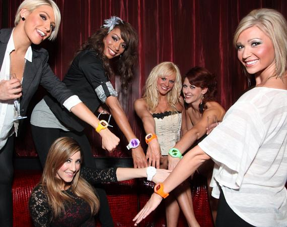 The FANTASY girls at the VIP table inside LAX Nightclub