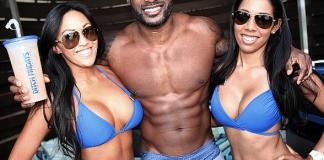 Tyson Beckford Parties at Ditch Fridays Season Opener at Palms Pool & Dayclub in Las Vegas