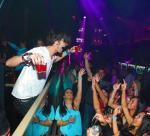 Tyson Ritter parties with fans