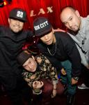 Jabbawockeez members Phil Tayag, Tony Tran, Chris Gatdula,  Phi at LAX Nightclub