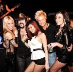 Lydia Ansel, Vinnie Paul and Zowie Bowie with friends