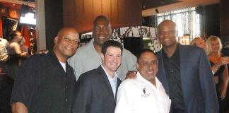 Warren Moon, Ronnie Lott, Charles Haley and FIRST's very own Chef Sammy D and Assistant GM Lou Hirsch