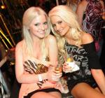 Lindsey Evans and Holly Madison at XS Nightclub