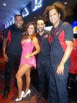 Andrea Rincon with Flair Bartenders at Andiamo Italian Steakhouse at the D Casino Hotel in Las Vegas