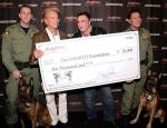 Siegfried & Roy accept donation check from Barrett-Jackson Auction in Las Vegas