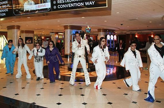 Opportunity Village Celebrated Elvis Presley's Birthday with Special Performance by OV Elvi and Official Elvis of Las Vegas, Jesse Garon