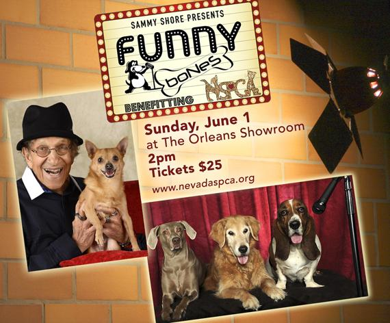 Sammy Shore's Funny Bones to Benefit NSPCA on Sunday, June 1 at 2pm at The Orleans Showroom
