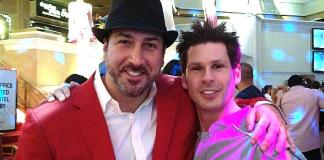 Joey Fatone and Mike Hammer at The Tropicana