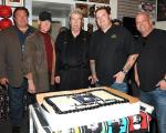 """Richard """"Old Man"""" Harrison celebrated his birthday with Randy Travis (to his right), grandson Corey and son Rick Harrison"""