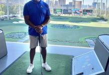 NFL Hall of Famer Dermontti Dawson at Topgolf Las Vegas