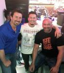 Richard Wilk, Skipper Kelp and UFC President Dana White