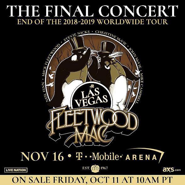 Fleetwood Mac Announce Final Show of World Tour November 16 at T-Mobile Arena in Las Vegas