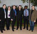 Terry Fator and a group of ventriloquist friends and puppet makers