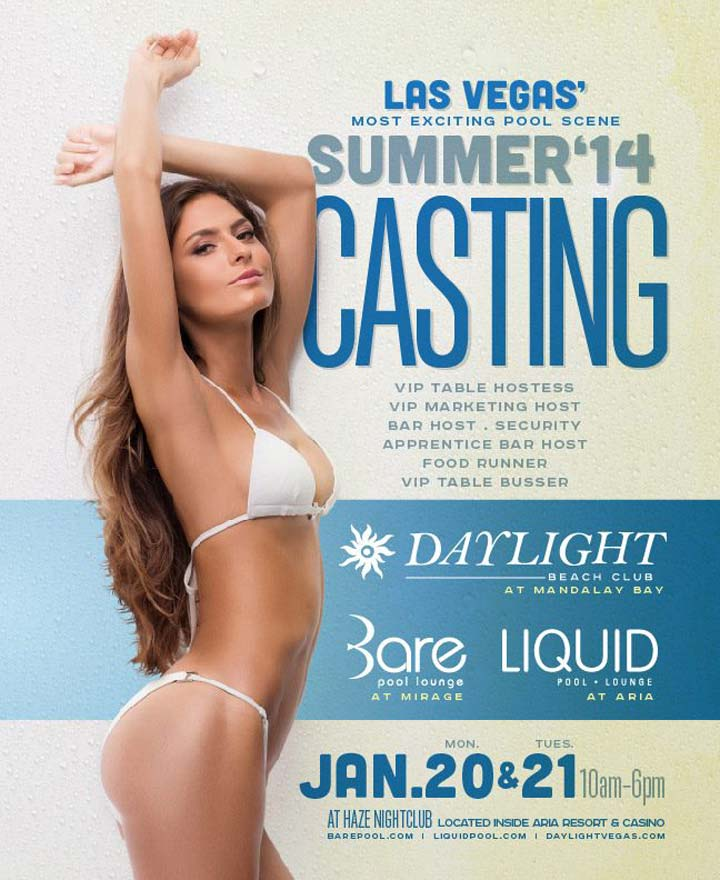 Vegas Pool Party Jobs