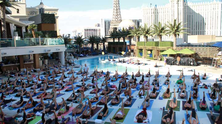 Yoga Pool side at Marquee Dayclub