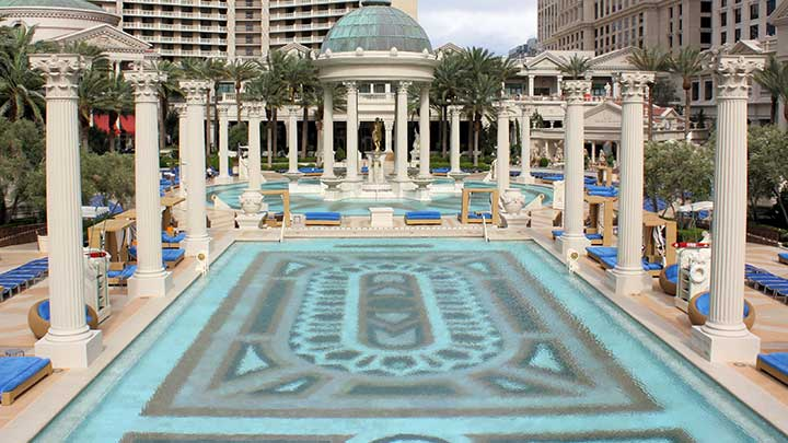 Caesars Palace Pool  Best Pools in Vegas Book a Cabana