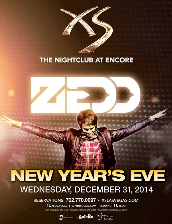 Zedd XS nightclub New Year's Eve