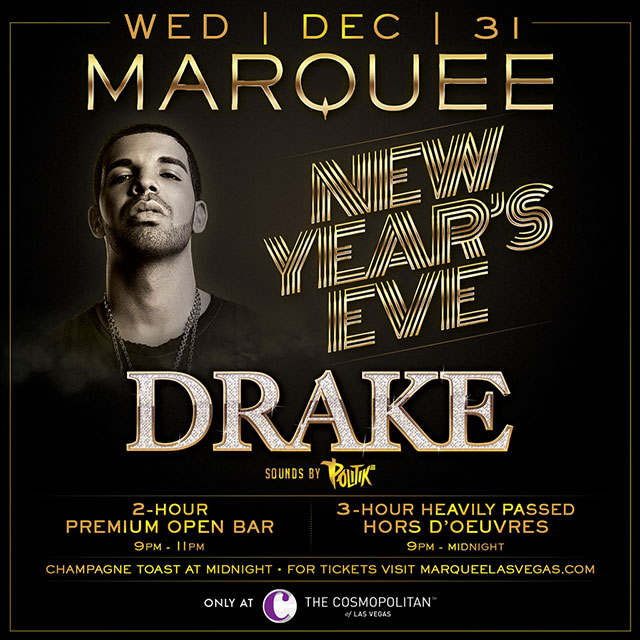 drake new years eve marquee las vegas