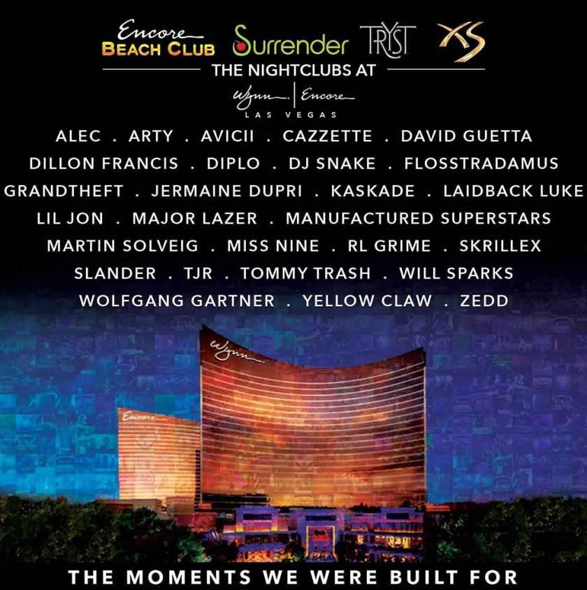 Wynn Las Vegas 2015 Roster