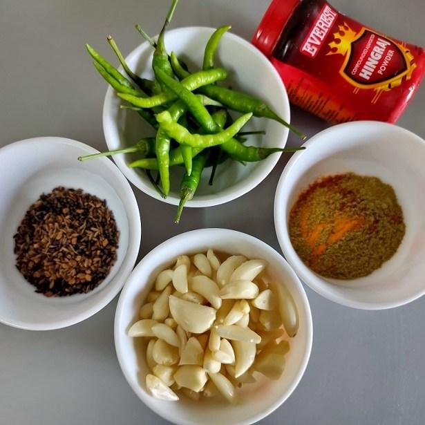 garlic green chilly achar recipe