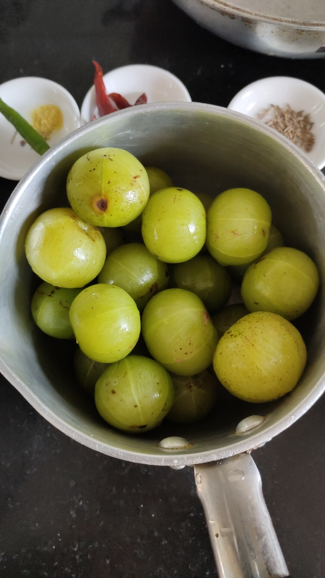 raw amla with spices