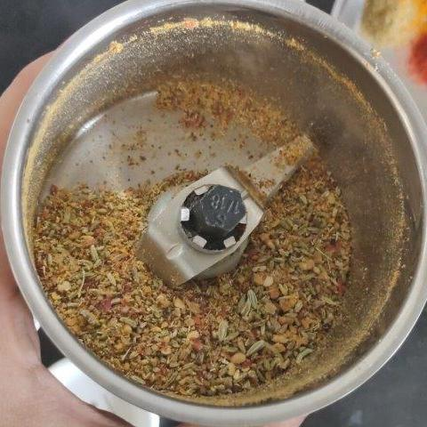 grinding spices for amla achar