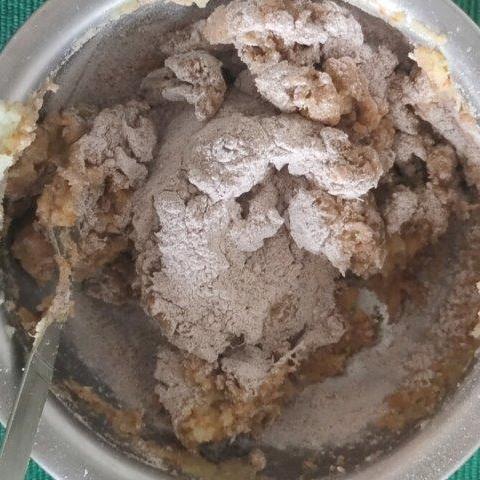 ragi flour added to sweet potato