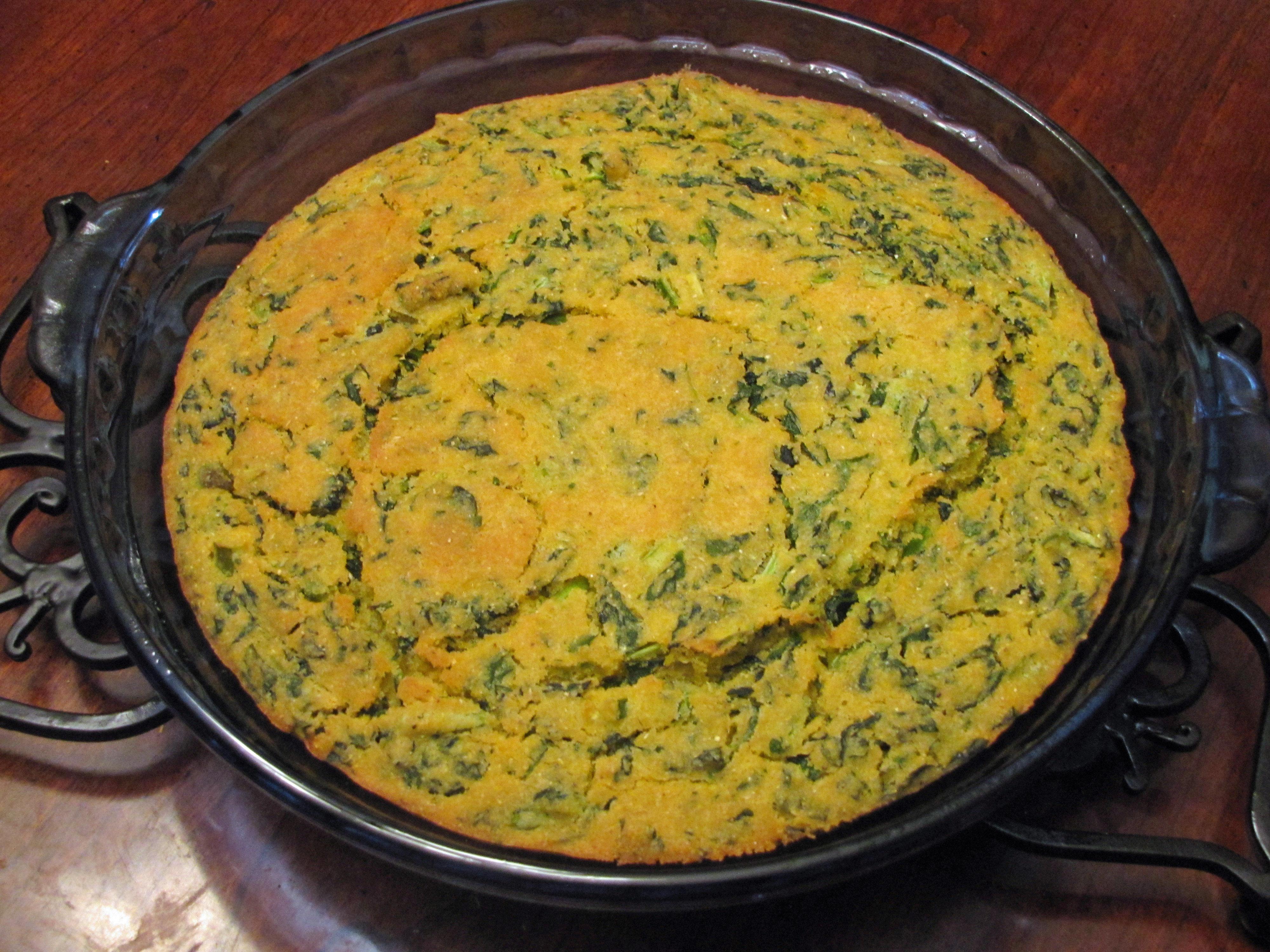 Cornbread With Turnip Greens  Hot Peppers  VegCharlotte